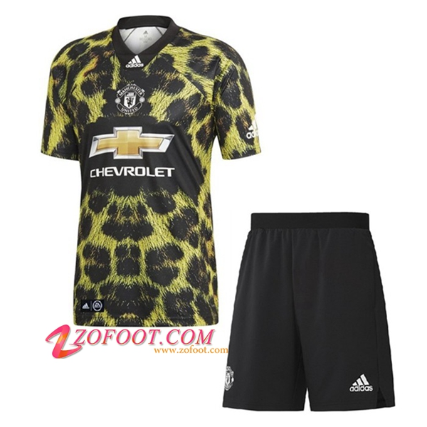 Ensemble Maillot + Short Manchester United Enfants Ea Edition Limitee 2019/2020