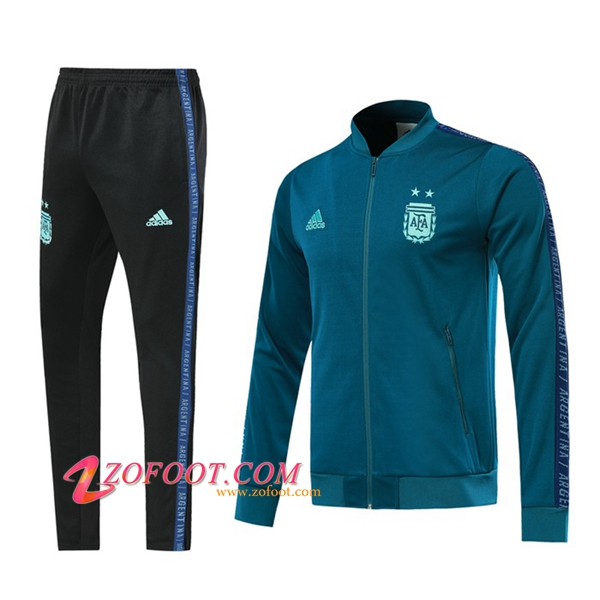 Ensemble Survetement Foot - Veste Argentine Vert 2019/2020