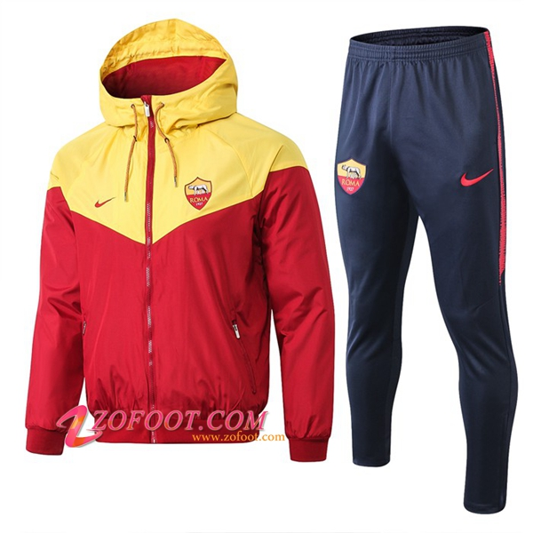 Ensemble Veste Coupe Vent AS Roma Rouge 2019/2020