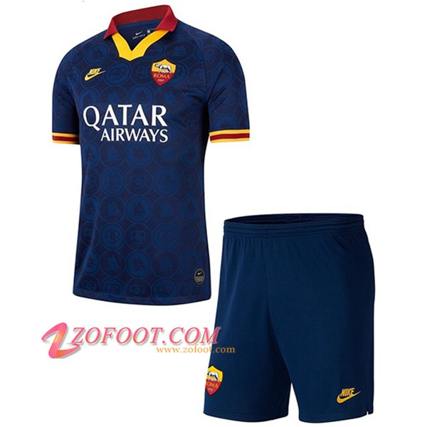 Ensemble Maillot + Short AS Roma Enfants Third 2019/20