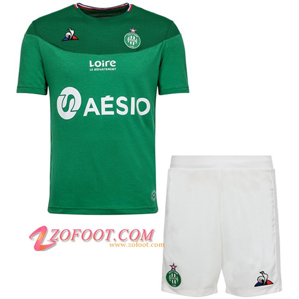 Ensemble Maillot + Short AS St Etienne Enfants Domicile 2019/20