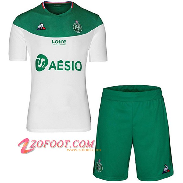 Ensemble Maillot + Short AS St Etienne Enfants Exterieur 2019/20