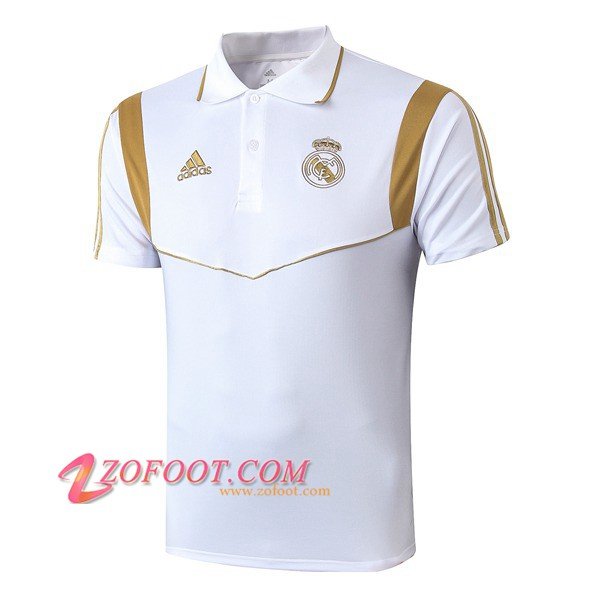 Polo Foot Real Madrid Blanc/Jaune 2019/2020