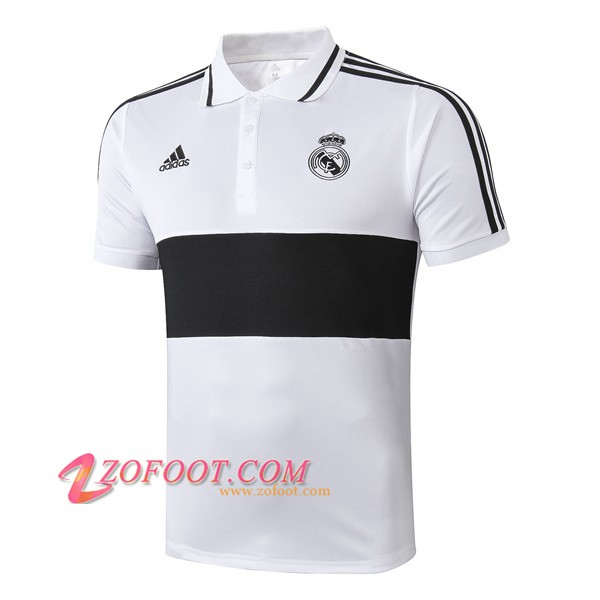 Polo Foot Real Madrid Noir/Blanc 2019/2020