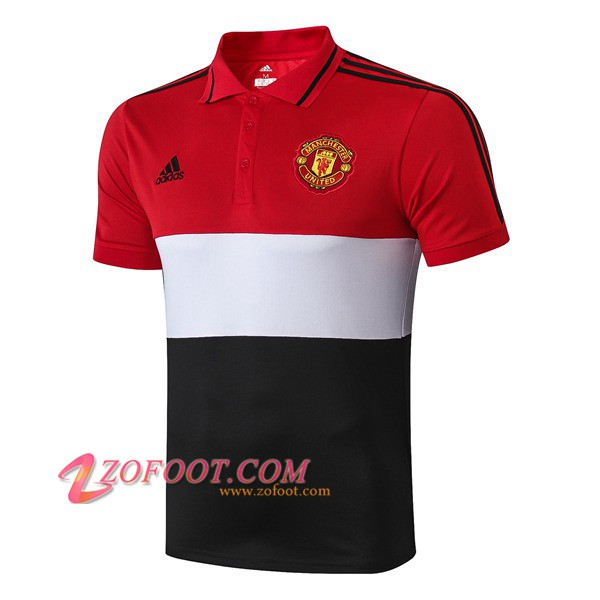 Polo Foot Manchester United Blanc/Noir/Rouge 2019/2020
