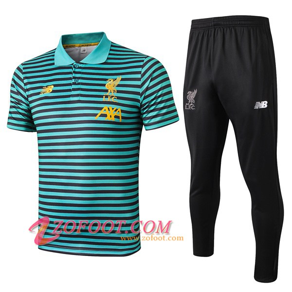 Ensemble Polo FC Liverpool + Pantalon Vert Stripe 2019/2020