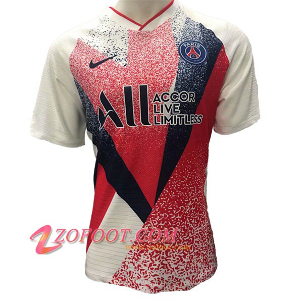 Training T-Shirts PSG ALL Version Fuite Rouge Blanc 2019/2020
