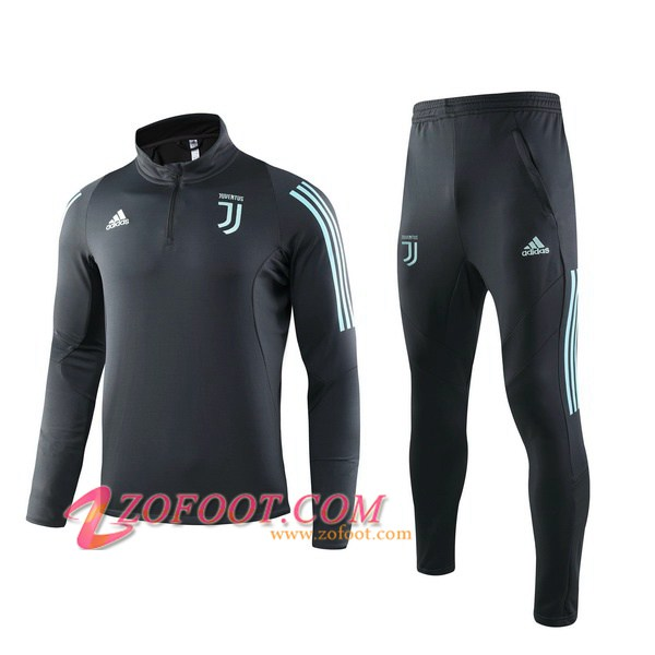 Ensemble Survetement de Foot Juventus Cyan 2019/2020