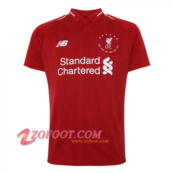 Maillot de Foot FC Liverpool Edition Commemorative de 6 Championnats - Rouge