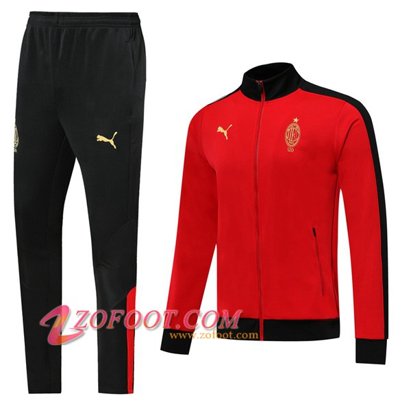 Ensemble Survetement de Foot - Veste AC Milan Edition 120e Anniversaire Rouge 2019/2020