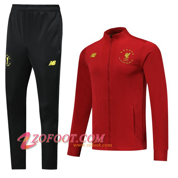 Ensemble Survetement de Foot - Veste FC Liverpool Rouge Edition commemorative 2019/2020