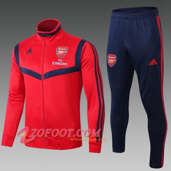 Ensemble Survetement Foot - Veste Arsenal Enfant Rouge 2019/2020