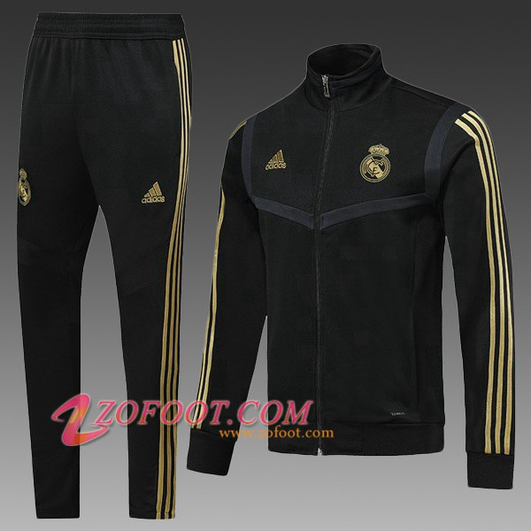 Ensemble Survetement de Foot - Veste Real Madrid Enfant Noir 2019/2020