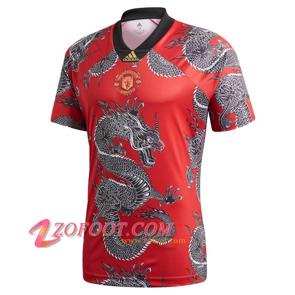 Maillot de Foot Manchester United Dragon de Chine Rouge 2019/2020