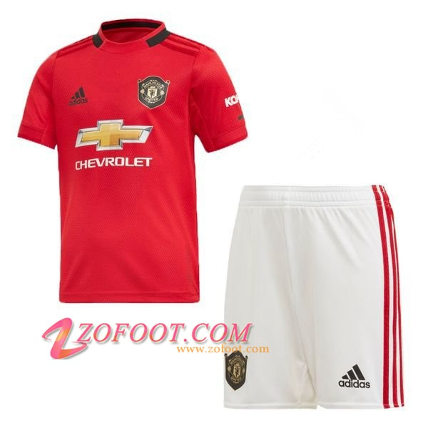 Ensemble Maillot + Short Manchester United Enfants Domicile 2019/2020