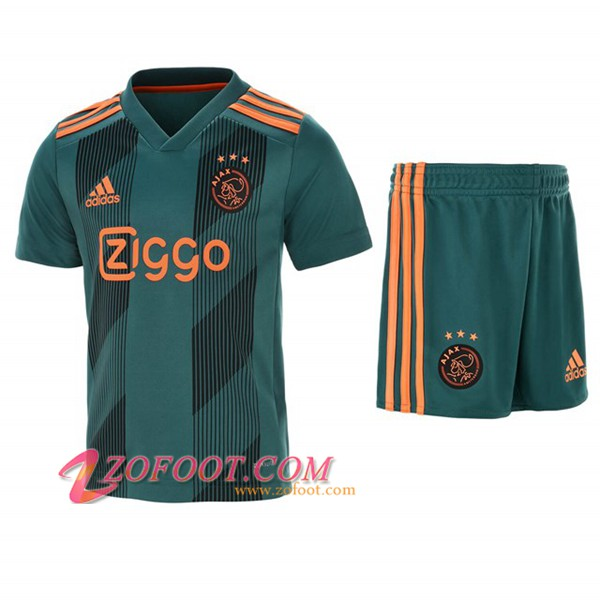 Ensemble Maillot + Short AFC Ajax Enfants Exterieur 2019/2020