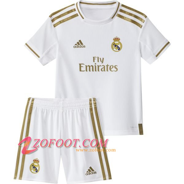Ensemble Maillot + Short Real Madrid Enfants Domicile 2019/20