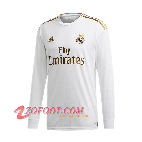 Maillot de Foot Real Madrid Manches longues Domicile 2019/2020