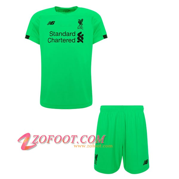 Maillot de Foot FC Liverpool Enfants Gardien de but Vert 2019/2020