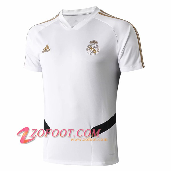Training T-Shirts Real Madrid Blanc/Noir 2019/2020
