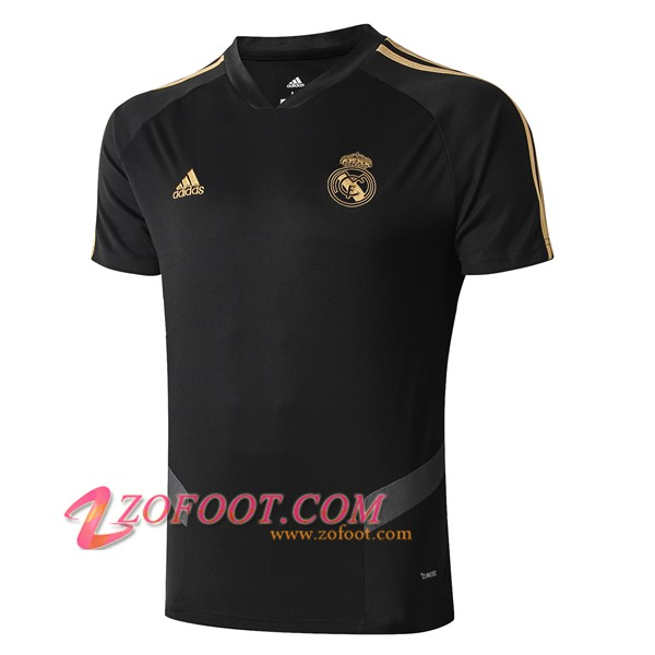 Training T-Shirts Real Madrid Noir/Gris 2019/2020