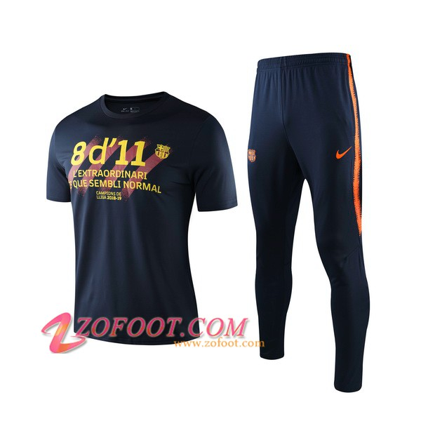 Ensemble Training T-Shirts FC Barcelone + Pantalon Noir 2019/2020