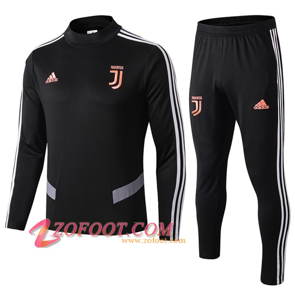 Ensemble Survetement de Foot Juventus Noir/Gris 2019/2020