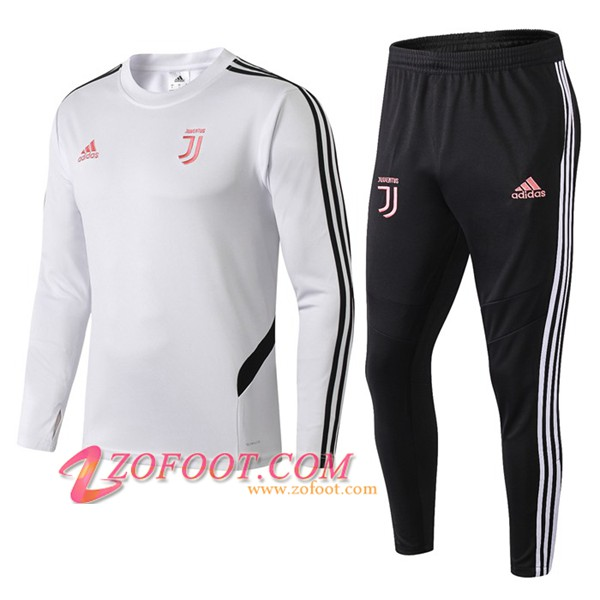 Ensemble Survetement de Foot Juventus Blanc/Noir 2019/2020