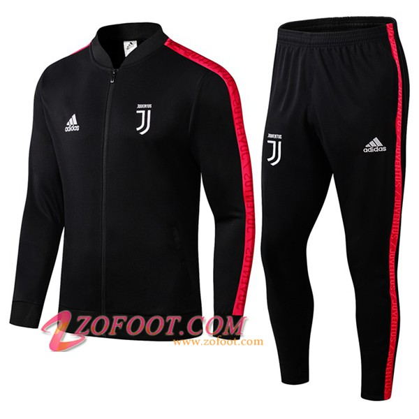 Ensemble Survetement de Foot - Veste Juventus Noir/Rouge 2019/2020
