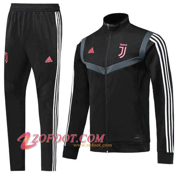 Ensemble Survetement de Foot - Veste Juventus Noir/Blanc 2019/2020