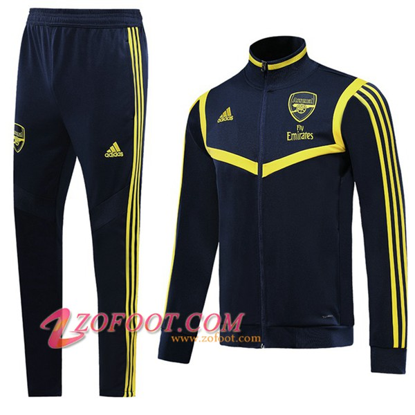 Ensemble Survetement de Foot - Veste Arsenal Noir/Jaune 2019/2020