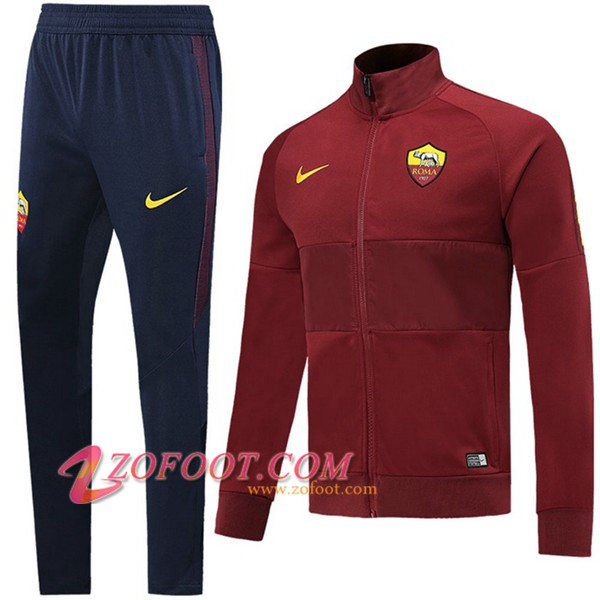 Ensemble Survetement de Foot - Veste AS Roma Brown 2019/2020