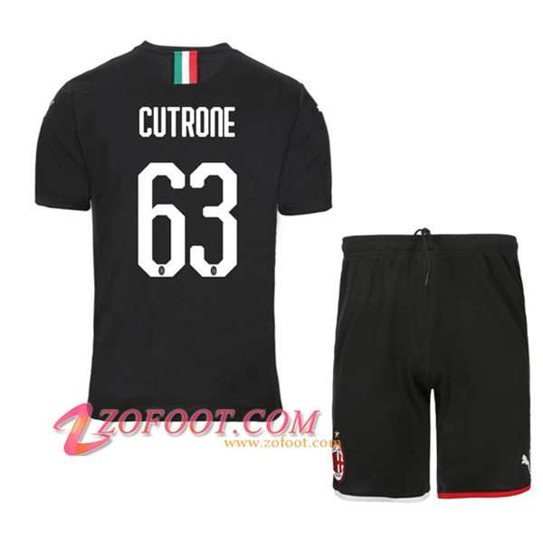 Ensemble Maillot + Short Milan AC (CUTRONE 63) Third 2019/2020