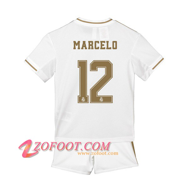 Ensemble Maillot + Short Real Madrid (Marcelo 12) Enfant Domicile 2019/2020