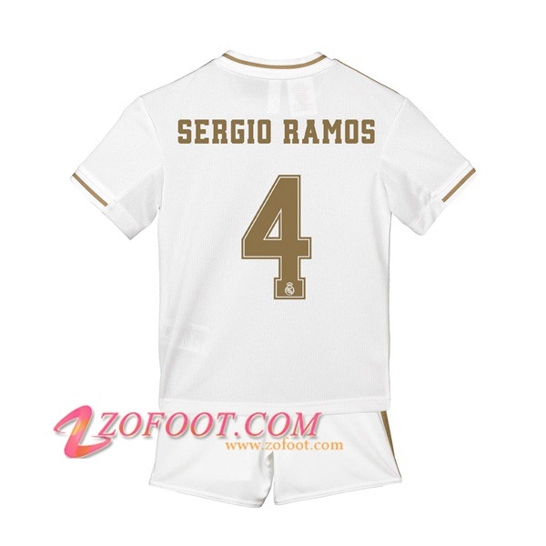 Ensemble Maillot + Short Real Madrid (SERGIO RAMOS 4) Enfant Domicile 2019/2020