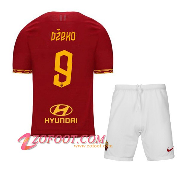 Ensemble Maillot + Short AS Roma (DZEKO 9) Enfant Domicile 2019/2020