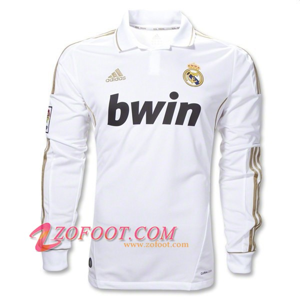 Maillot de Foot Real Madrid Manches longues Domicile 2011/2012