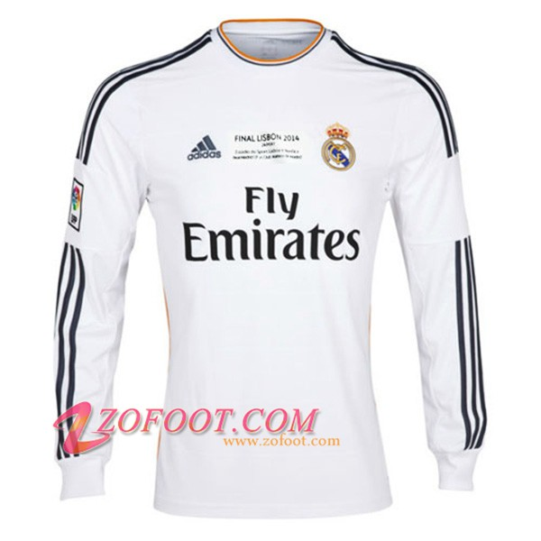 Maillot de Foot Real Madrid Manches longues Domicile 2013/2014