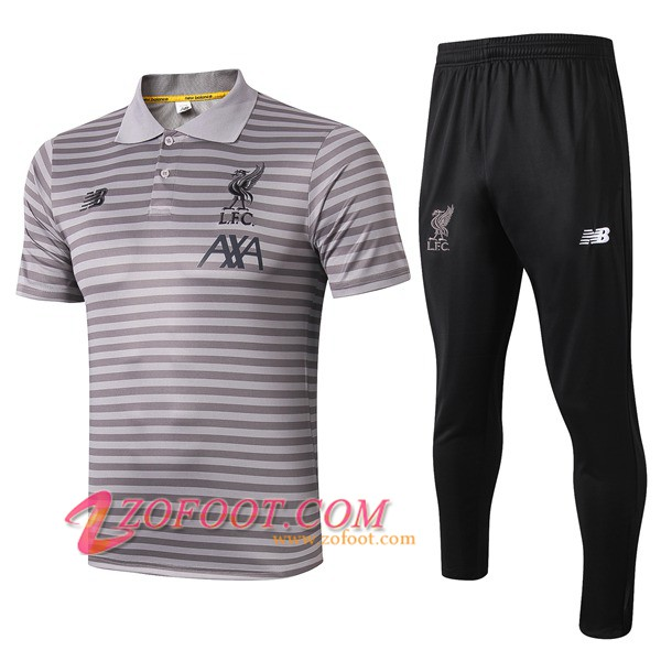 Ensemble Polo FC Liverpool + Pantalon Gris Stripe 2019/2020