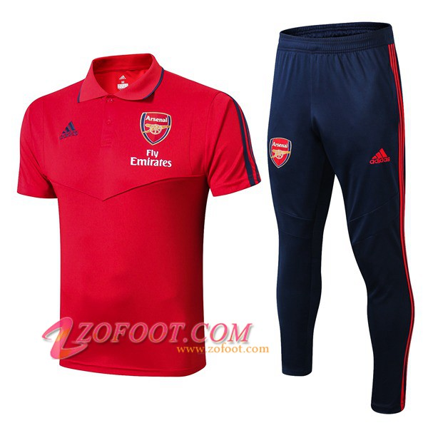 Ensemble Polo Arsenal + Pantalon Rouge 2019/2020