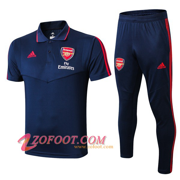 Ensemble Polo Arsenal + Pantalon Bleu Fonce 2019/2020
