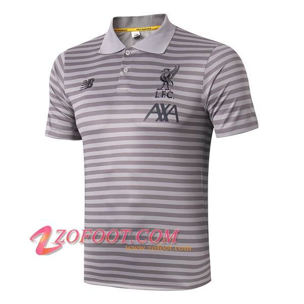 Polo Foot FC Liverpool Gris Stripe 2019/2020
