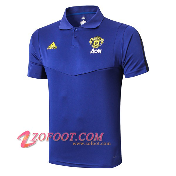 Polo Foot Manchester United Bleu 2019/2020