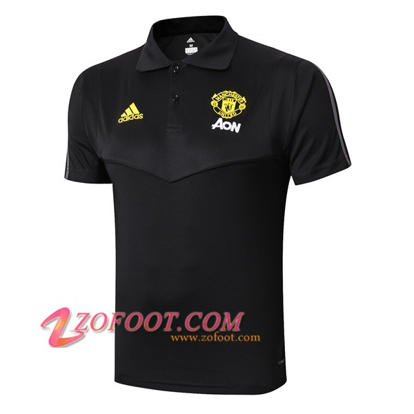 Polo Foot Manchester United Noir 2019/2020