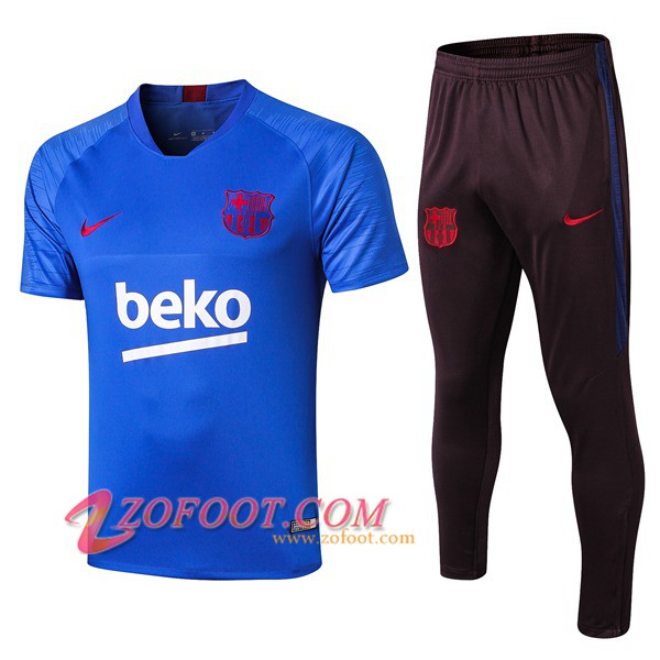Ensemble Training T-Shirts FC Barcelone + Pantalon Blue 2019/2020