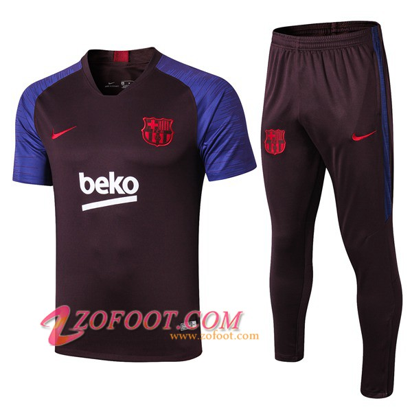 Ensemble Training T-Shirts FC Barcelone + Pantalon Pourpre 2019/2020