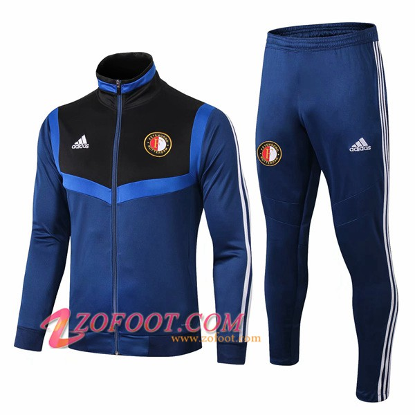 Ensemble Survetement de Foot - Veste Feyenoord Bleu/Noir 2019/2020