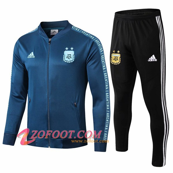 Ensemble Survetement de Foot - Veste Argentine Cyan 2019/2020