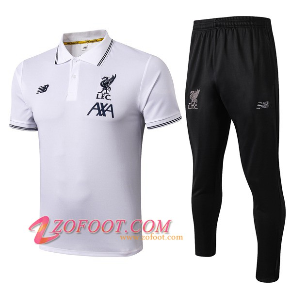 Ensemble Polo FC Liverpool + Pantalon Blanc 2019/2020