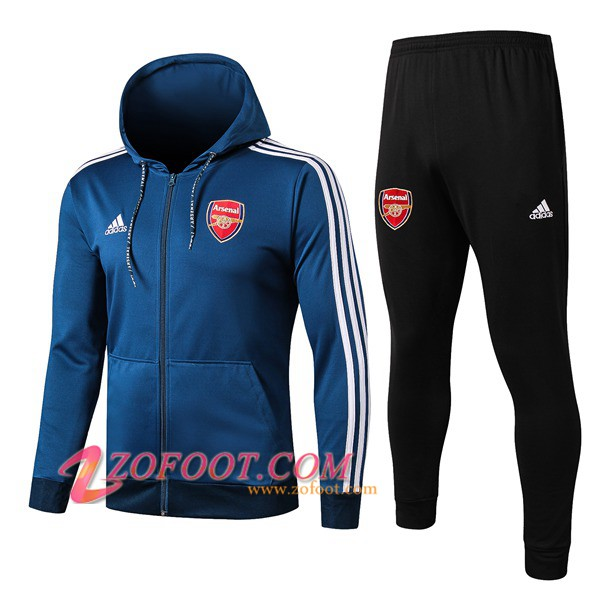 Veste A Capuche Survetement Foot Arsenal Bleu 2019/2020